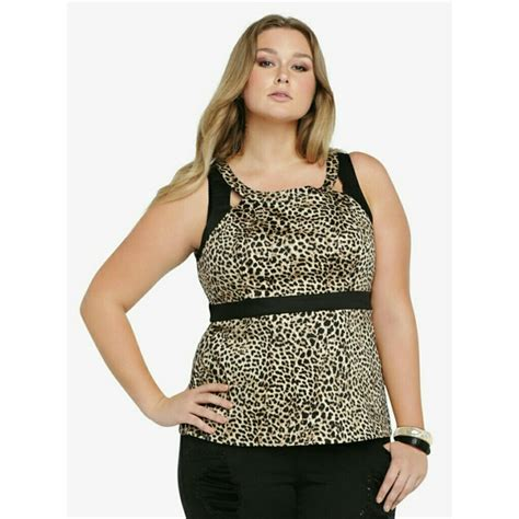 67 torrid tops plus size torrid leopard top 5x