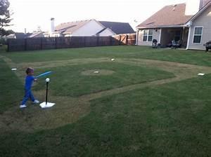 Backyard Baseball Field  Daddy Made This For Logan U0026 39 S