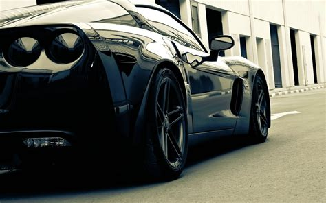 Black Sports Car Wallpaper