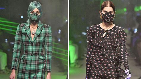 haute couture face masks  paris fashion week highlight