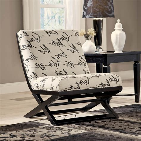 signature design by levon showood accent chair