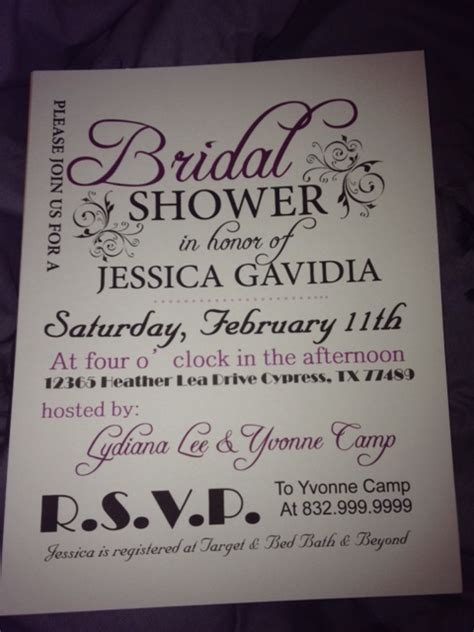 bridal shower invitation weddingbee photo gallery