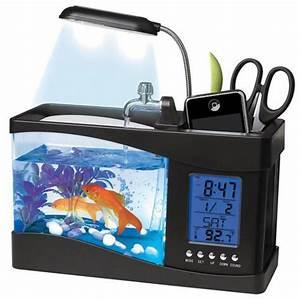 aquarium de bureau usb avec station meteo commentseruiner With affiche chambre bébé avec pot de fleur eclairage led