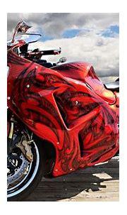Red bike - Phone wallpapers