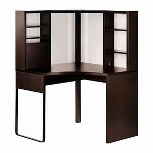 Ikea Bureau Angle : micke poste de travail d 39 angle brun noir 100x142 cm ikea ~ Melissatoandfro.com Idées de Décoration