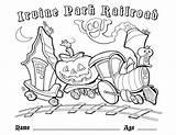 Coloring Railroad Crossing Irvine Irvineparkrailroad sketch template