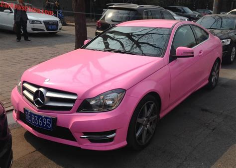 Mercedes-benz C-class Coupe Is Pink In China