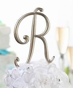 gold monogram letter wedding cake topper ebay With gold letter wedding cake toppers