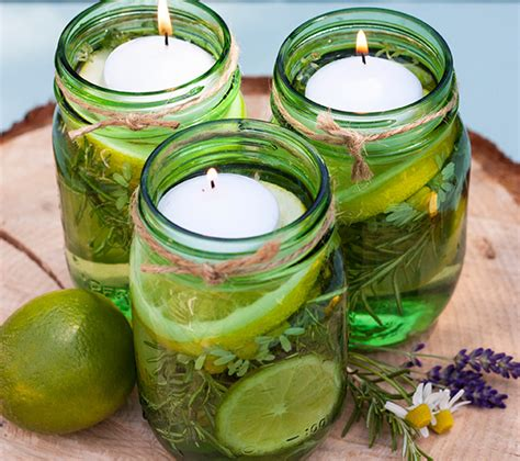 kerzen im glas selber machen selbermachen citronella kerze himbeer magazin