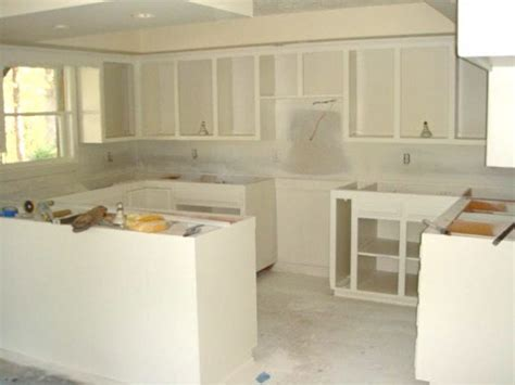 remodelaholic refinishing kitchen cabinets at the cabin guest remodel