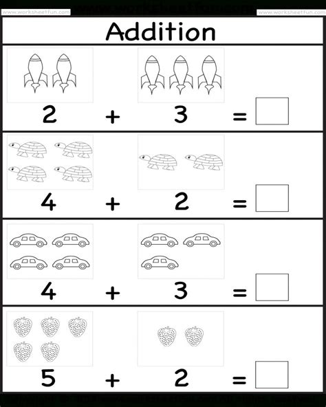 printable kindergarten math worksheets addition