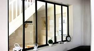 Verriere Interieure Metallique : verri re d 39 int rieur cloison vitr e en acier verri re ~ Premium-room.com Idées de Décoration