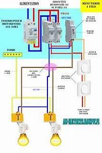 schema electrique chauffe eaujpg 1058x794 projetos a With quelle couleur avec le bleu 7 schema electrique le raccordement de 3 interrupteurs va