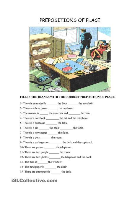 Preposition Of Place  Google Keresés  English Worksheets  Pinterest Prepositions