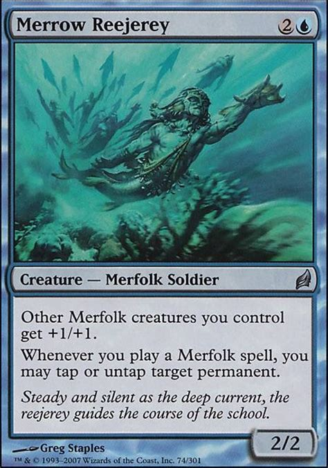 Mtg Merfolk Deck Tapped Out by Merrow Reejerey Lrw Mtg Card