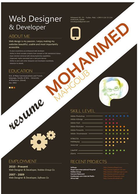Graphic Designers Resume Inspiration by Nunok S Creative Graphic Resume Designs Which Will