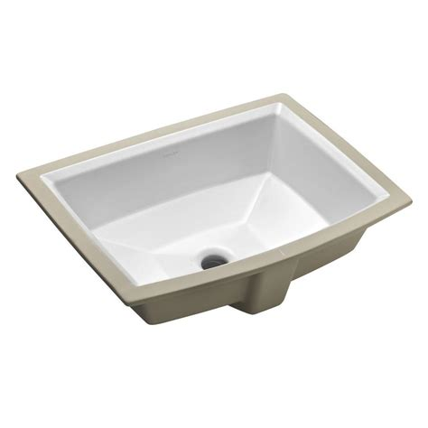 bathroom sink drain home depot kohler archer vitreous china undermount bathroom sink with