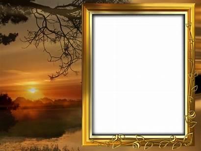 Transparent Frame Sunset Frames Nature Background Collage