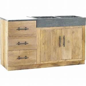 Meuble Sous Evier 120 : meuble sous evier cuisine 120 cm offres sp ciales porte ~ Nature-et-papiers.com Idées de Décoration