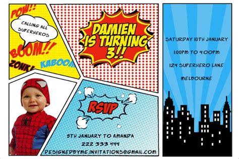 superhero birthday invitation templates psd ai