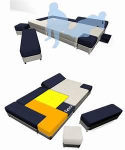 Canapé Lit Design : design un canap lit au look bien geek de tetris semageek ~ Teatrodelosmanantiales.com Idées de Décoration