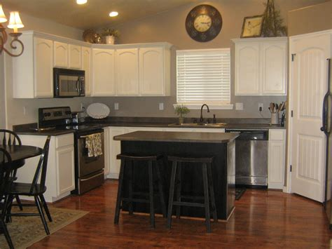 white kitchen with black island remodelaholic white kitchen cabinets guest