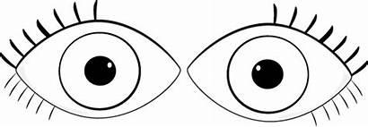 Eyes Clip Eye Clipart Outline Pair Eyeball
