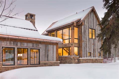 Sumptuous Wood Siding look Denver Rustic Exterior Decorating ideas with copper rain gutter entry