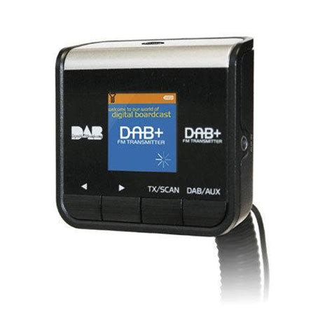 dab radio adapter pama play car dab digital radio adapter with fm transmitter aux in out ebay