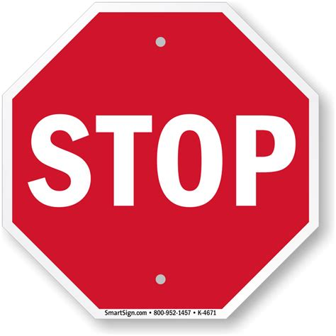 stop sign mini stop sign many size material options sku k 4671 mysafetysign