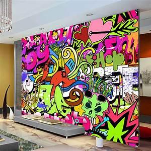 Graffiti Boys Urban Art Photo Wallpaper Custom Wall Mural ...