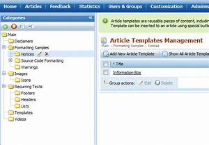article templates snippets With knowledge base document template