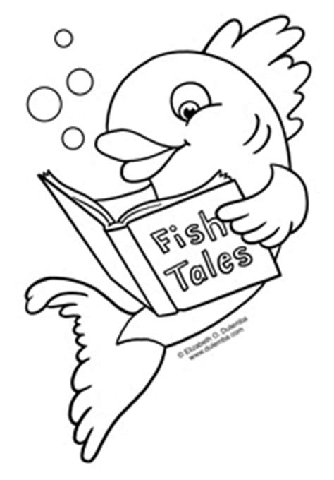dulemba coloring page tuesday fish tales
