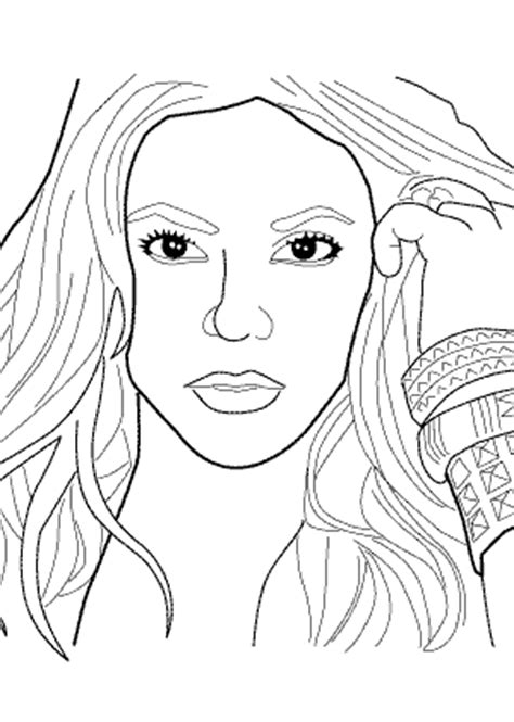 Shakira coloring pages for kids, printable free coloring books