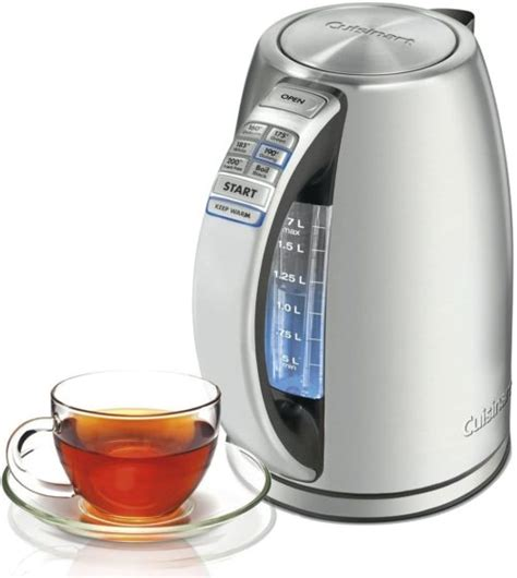 kettle electric tea cuisinart cordless kettles cpk perfectemp stainless steel perfect liter stand temp emile henry hard why reviewdots booklet