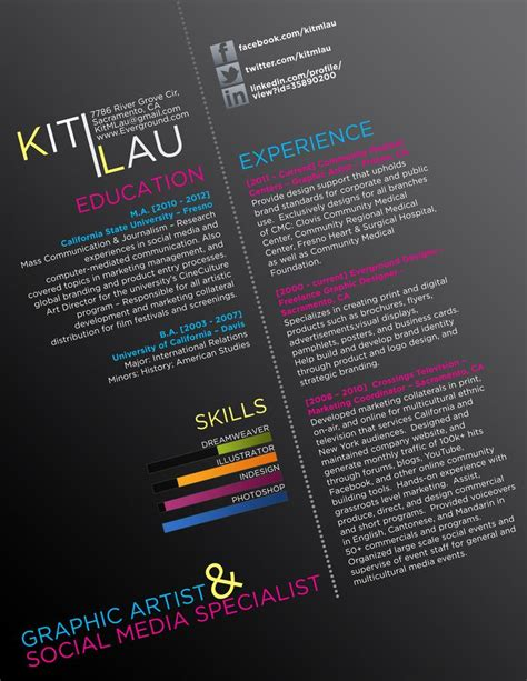 17 best images about curriculum vitae creative resumes