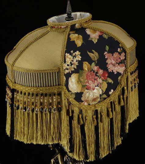 plain jane l shades victorian lamp shade waverly black gold silk fabric ebay