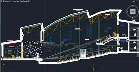 sustainable tourist recreation center  dwg design section  autocad designs cad