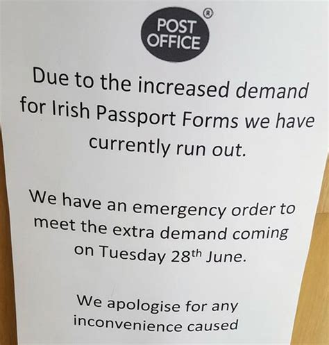 post office runs out of passports forms as brits