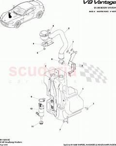 Cmp Headlamp Washers For Aston Martin V8 Vantage