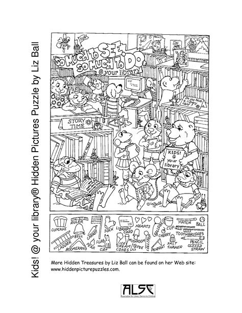 Printable Puzzles For Adults Kids Your Library Hidden