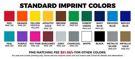 color standards standard colors highcaliberline