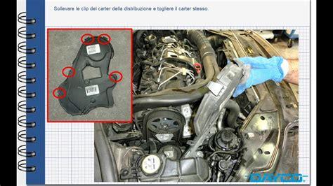 montaggio kit distribuzione volvo xc  diesel motore