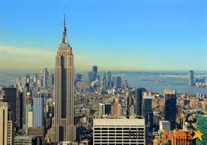 barbara becker design fototapete tapete new york skyline empire state building foto 360 x 254 cm