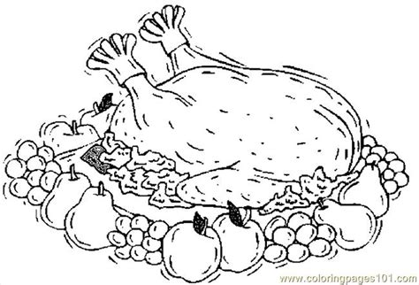 turkey cooked  coloring page  thanksgiving day