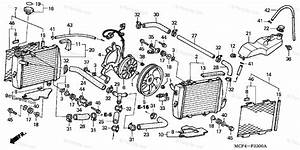 Honda Motorcycle 2000 Oem Parts Diagram For Radiator   U0026 39 00