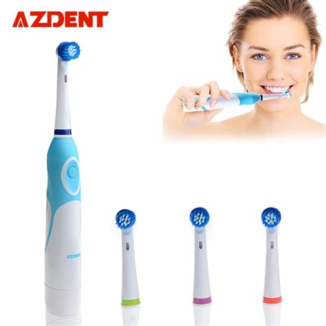 AZDENT Rotating Electric Toothbrush Battery Operated with