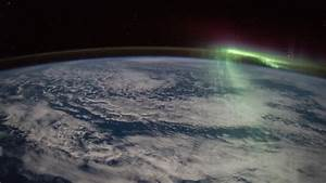 International Space Station ISS Aurora Borealis Over East ...