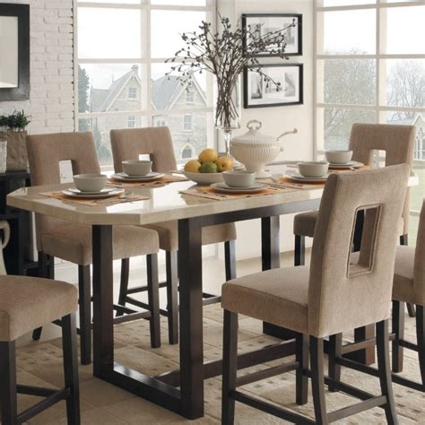 marble top kitchen table counter height high top table sets to create an entertaining dining space