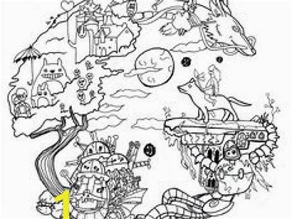Away Spirited Coloring Ghibli Prints Divyajanani